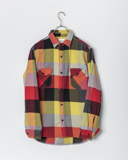 CAL O LINE【キャルオーライン】PLAID FLANNEL WORK SHIRT