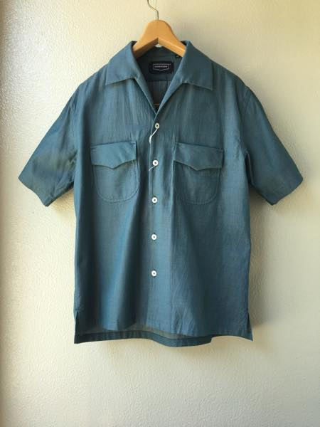 HANDROOM【ハンドルーム】Cotton Dobby Cloth Open Collar Shirt