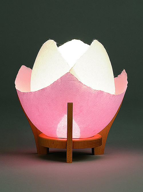 【現代盆提灯・ちょうちん】 花ほのか ピンク 【モダン】【インテリア】【小型】【現代仏壇】