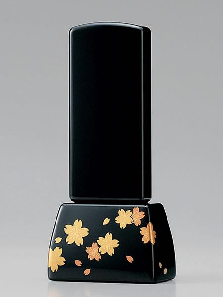 【現代仏壇・仏具・家具調仏壇・モダン仏壇に最適】 位牌 花だより 4.5寸