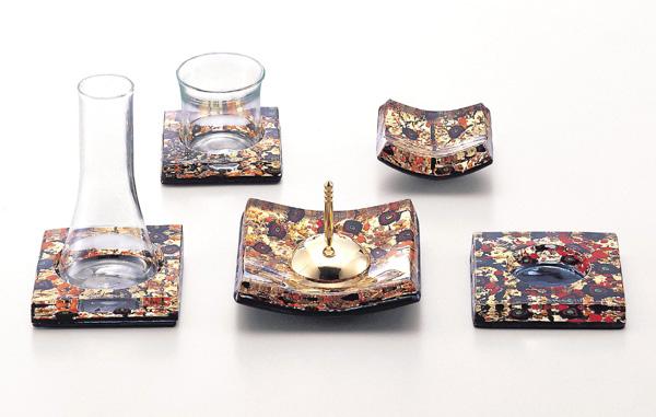 【現代仏具 五具足】 ペペローネ 【真鍮・ガラス製】【モダン】【八木研】