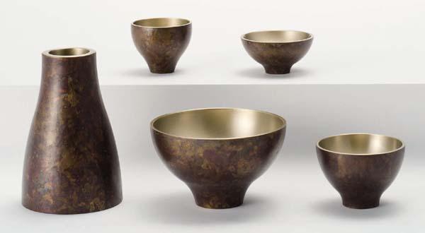 【現代仏壇 五具足】 バース・ブラウンL 【真鍮製・モダン】【八木研】