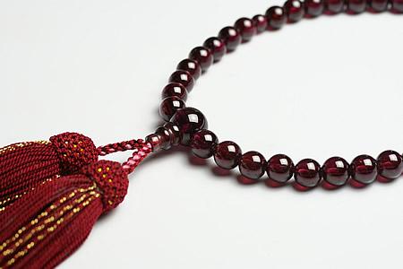 【数珠・念珠】最高級天然石念珠 7mmロードライトガーネット数珠