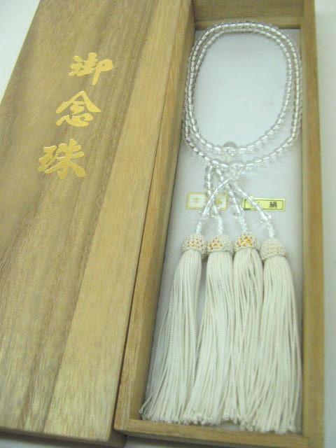 【数珠・念珠】 5.5φ 水晶(2連)