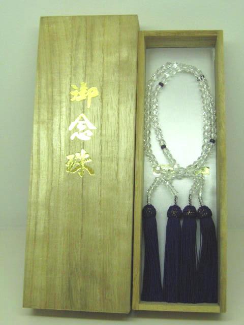 【数珠・念珠】 2連水晶切子 6φ