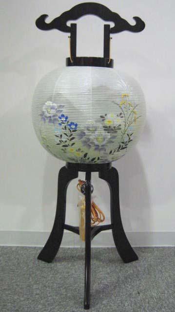 【提灯 ちょうちん あんどん】磁光行灯 秋草 夕絹張二重 マグネット組み立て式