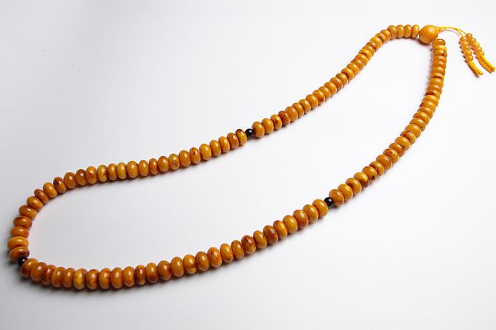 【数珠・念珠】10mm 最高級老琥珀数珠 (蜜蝋琥珀、コハク、アンバー)【天然石】