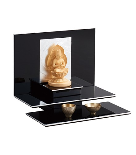 送料無料!【現代仏壇 上置きタイプ】 雪の都 【八木研】