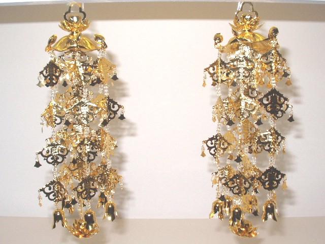 【瓔珞(ようらく・ヨーラク)】 蓮笠瓔珞 真鍮製金色仕上 4号 【金、唐木仏壇向け】