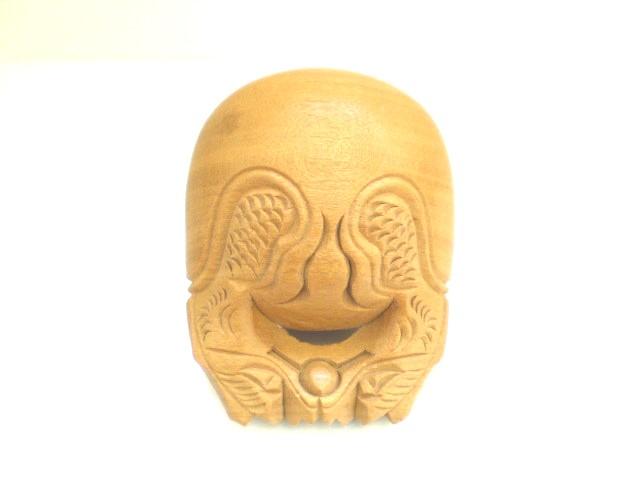 【仏具 木魚(杢魚)】 木地杢魚 桂欄 4.0寸 【金、唐木、家具調仏壇向け】