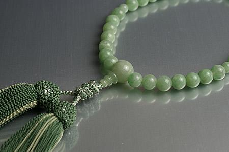 【数珠・念珠】最高級天然石念珠 8mm本ミャンマーヒスイ数珠
