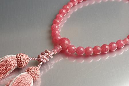 【数珠・念珠】最高級天然石念珠 8mmインカローズ数珠