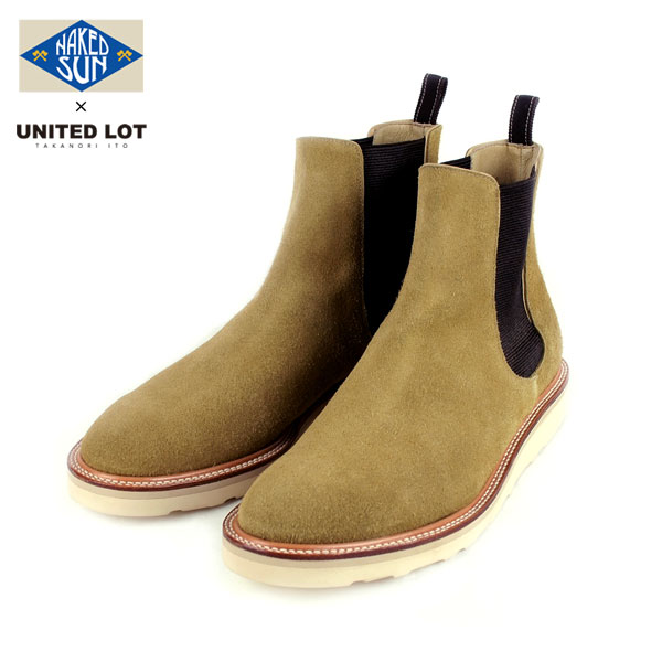 NAKED SUN × UNITEDLOT SUEDE SIDE GORE BOOT(2色)017008001-BEIGE
