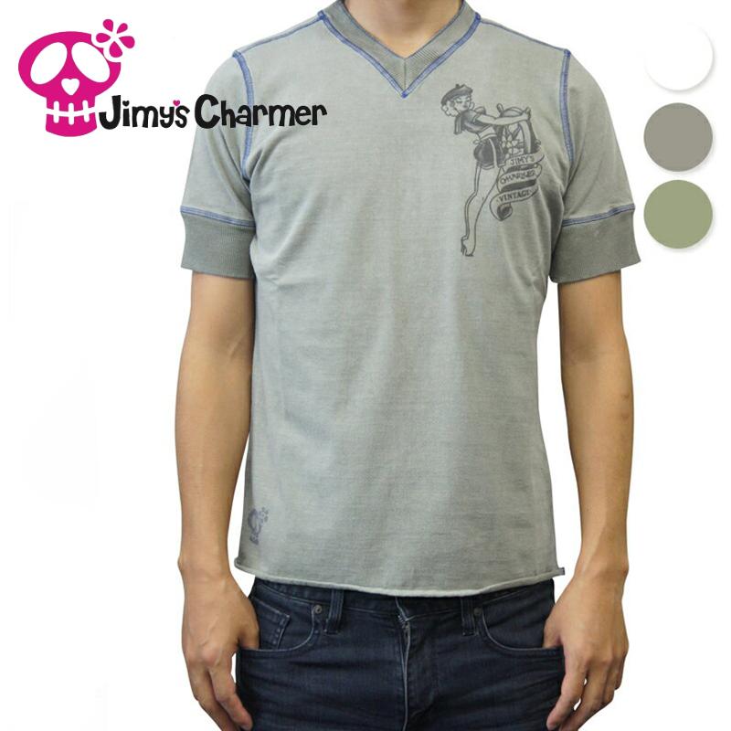 ジミーズチャーマー Jimy's Charmer Vネック シャツ shirt 【お買上げ10,800円以上で送料無料!!】