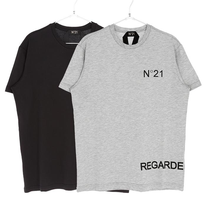 N°21 ヌメロヴェントゥーノ Tシャツ メンズ ブラック グレー 大阪 アメ村 オンライン 通販 新作 2020SS 00120suf0226317【お買上げ11,000円以上で送料無料!!】