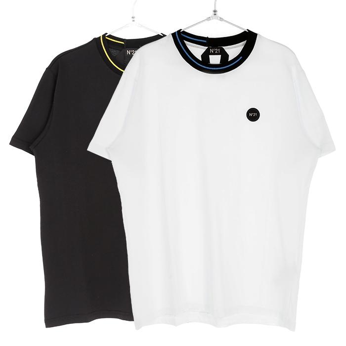 N°21 ヌメロヴェントゥーノ Tシャツ メンズ ブラック ホワイト 大阪 アメ村 オンライン 通販 新作 2020SS 00120suf0326317【お買上げ11,000円以上で送料無料!!】