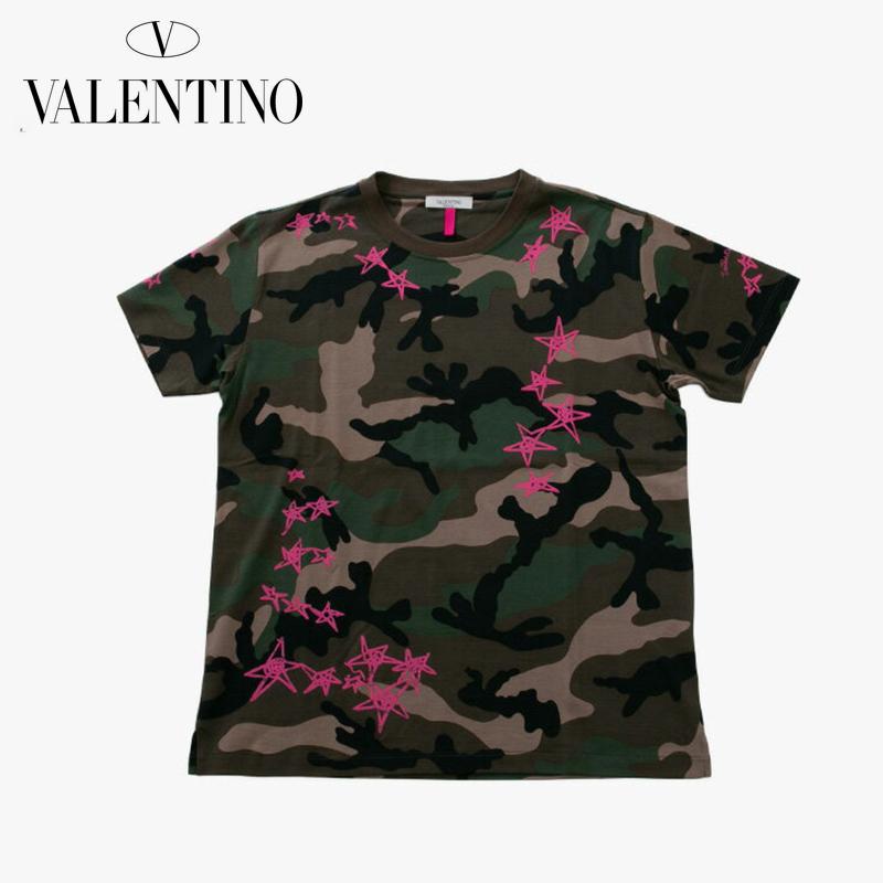 Valentino ヴァレンティノ Tシャツ メンズ 迷彩 カモフラ 2018SS 新作 801pv3mg10m3m0 【お買上げ10,800円以上で送料無料!!】