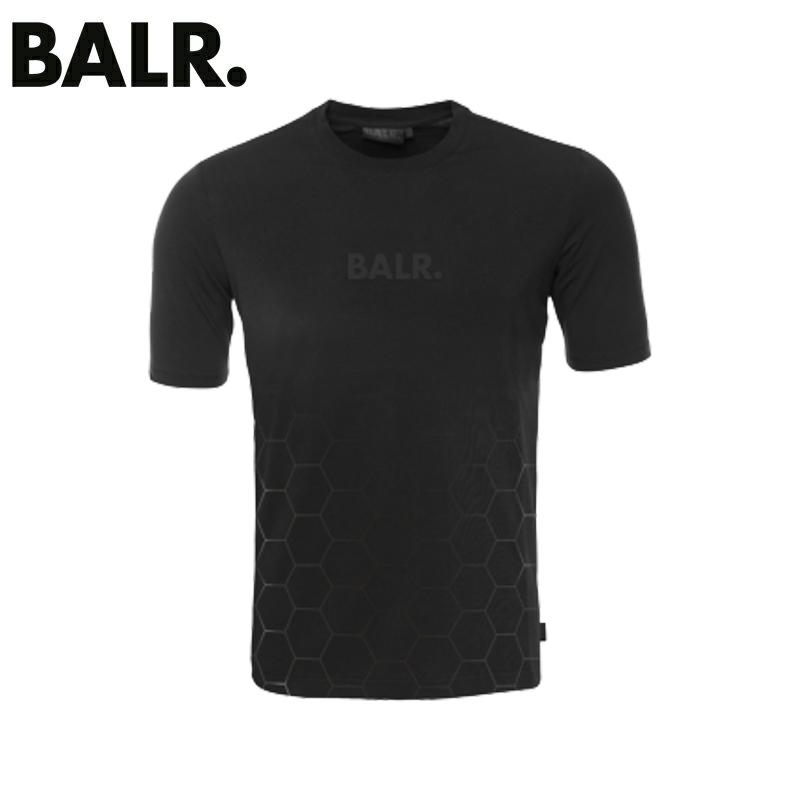 入荷!!BALR. ボーラー メンズTシャツ ホワイト BLACK ON BLACK PANEL T-SHIRT 802blackonblack【お買上げ10,800円以上で送料無料!!】