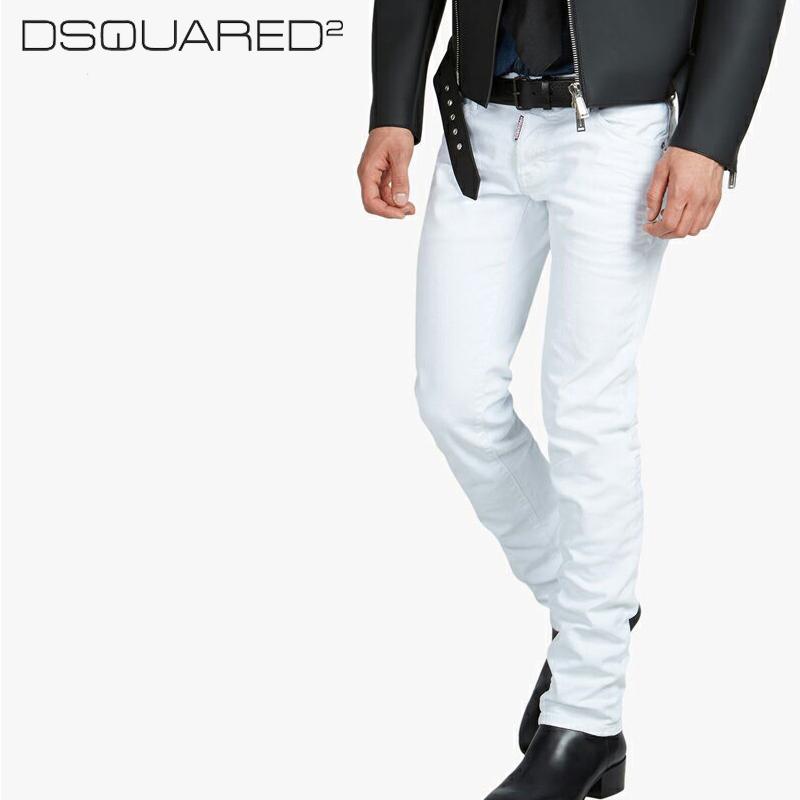 ディースクエアード Dsquared2 デニム Slim Jean ホワイト 【お買上げ10,800円以上で送料無料!!】