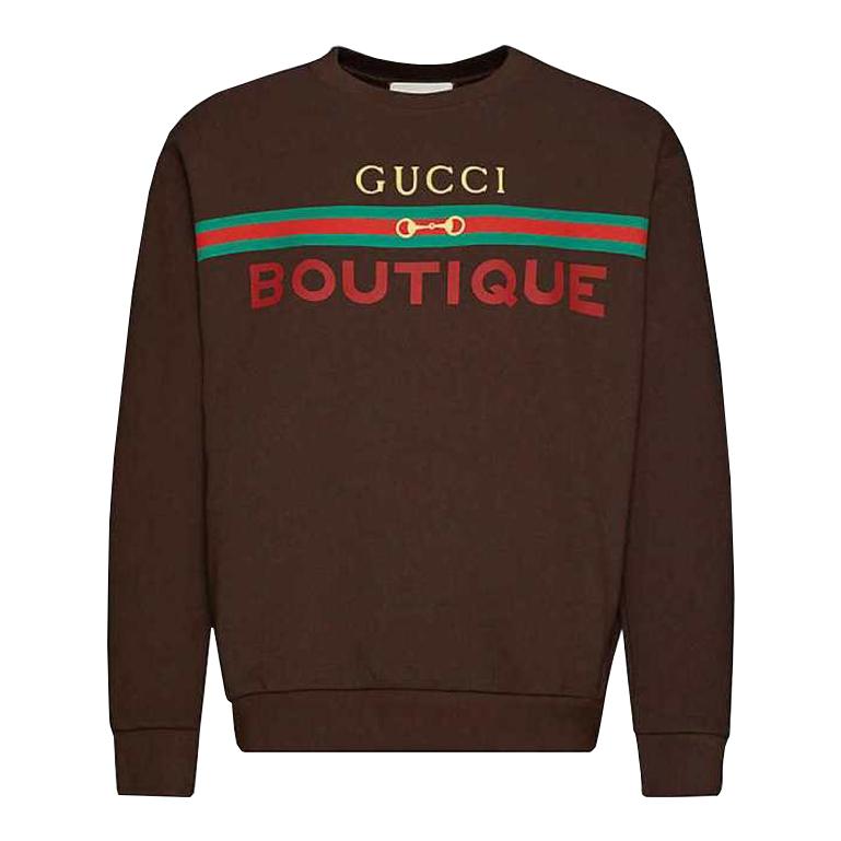 GUCCI Boutique graphic-print cotton-jersey sweatshirtグッチ メンズ スウェット トレーナー  トップス 大阪 アメ村 オンライン 通販 2020AW 623245xjckx