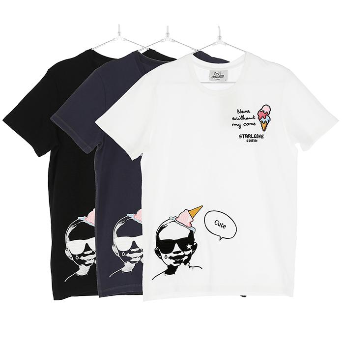 Star Leone スターレオーネ Tシャツ メンズ ホワイト ブラック ネイビー 3カラー ベイビー baby 2019SS lcts010【お買上げ11,000円以上で送料無料!!】