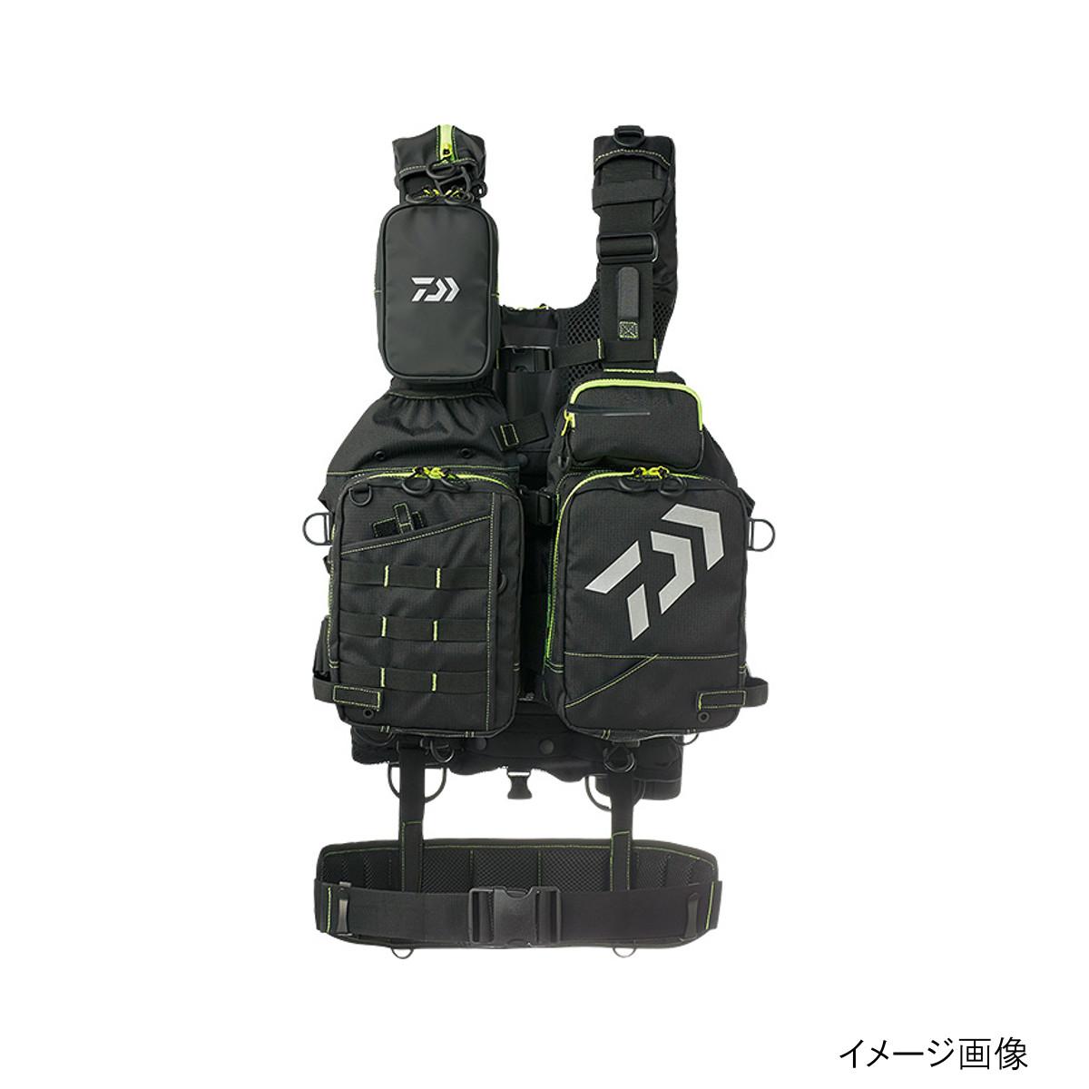 ダイワ ベンチクールゲームベスト4 DF-6109 ブラックxライム【送料無料】