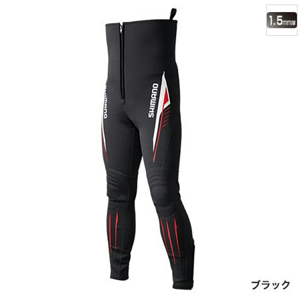 シマノ 鮎タイツT-1.5 TI-081Q MO ブラック【送料無料】