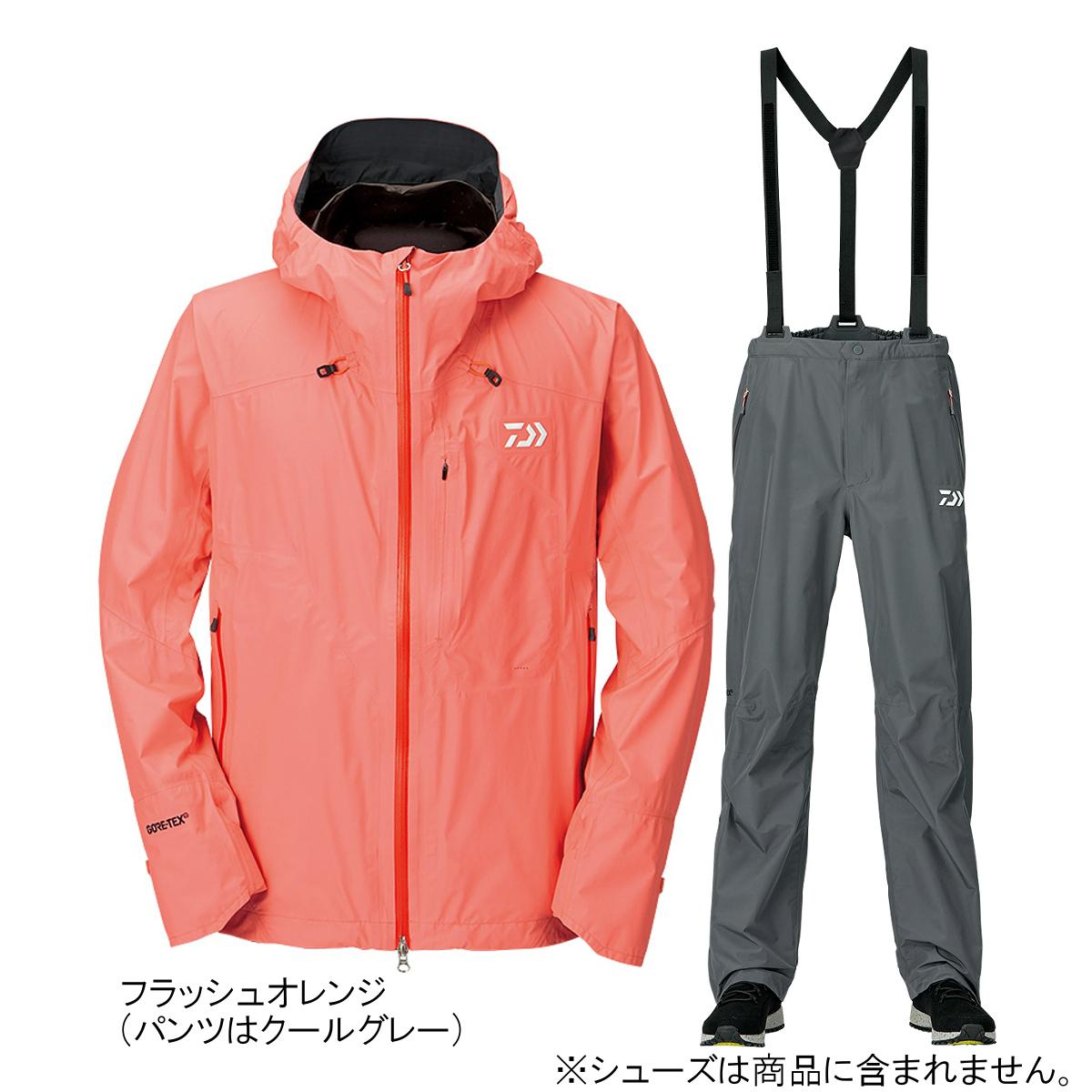 ダイワ ゴアテックス パックライトプラス レインスーツ DR-16009 L フラッシュオレンジ【送料無料】