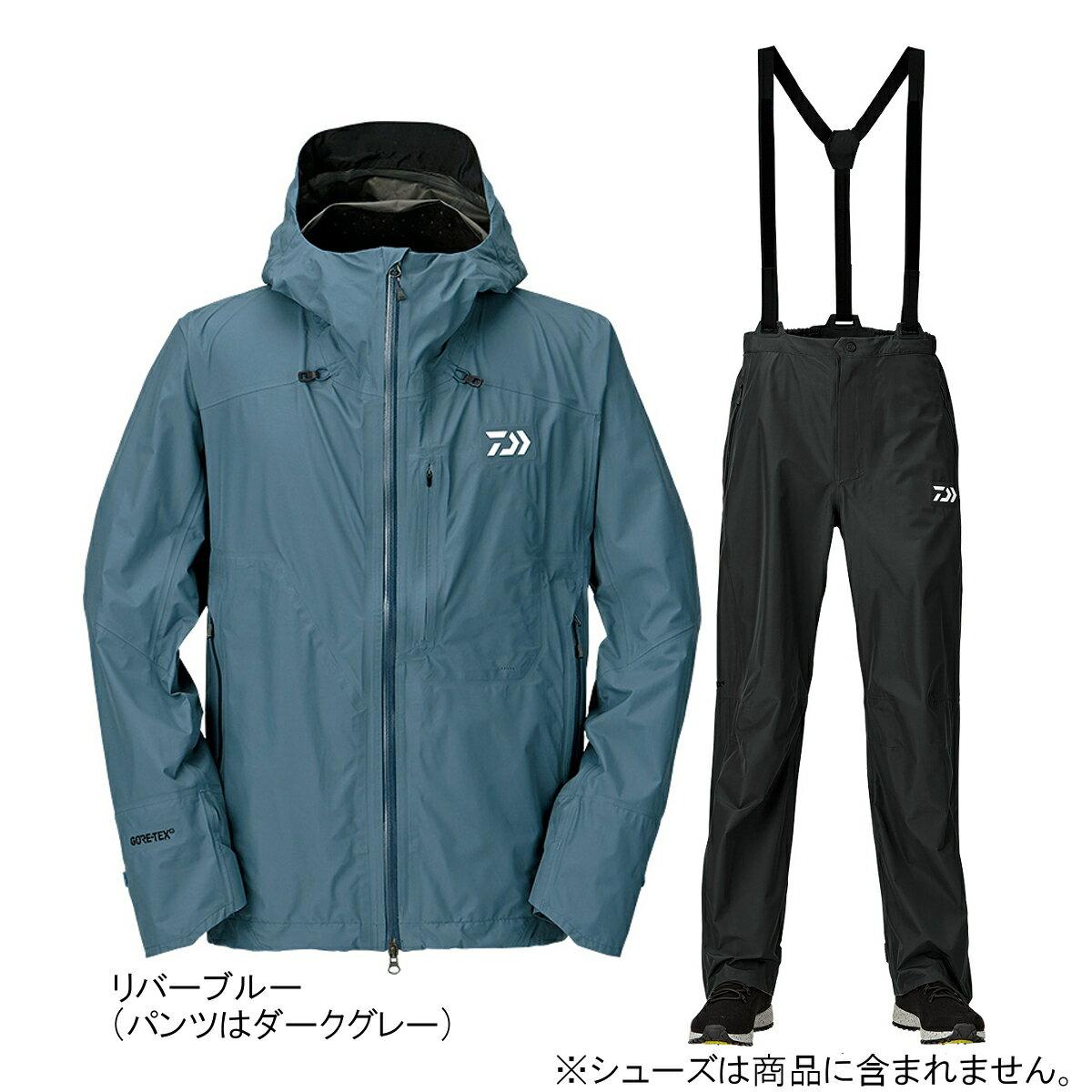 ダイワ ゴアテックス パックライトプラス レインスーツ DR-16009 M リバーブルー【送料無料】
