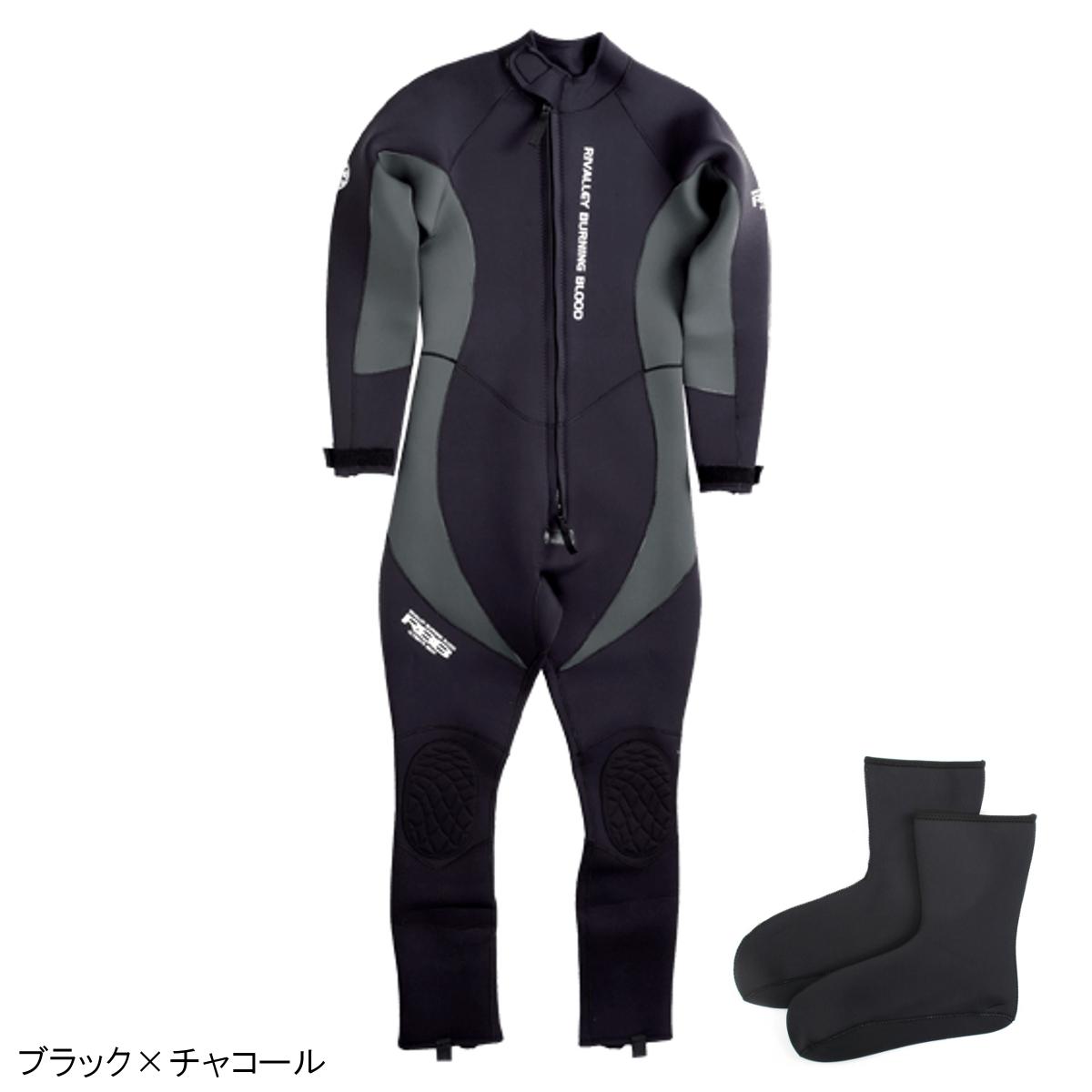 RBB ウェットスーツII No.8779 L ブラック×チャコール【送料無料】