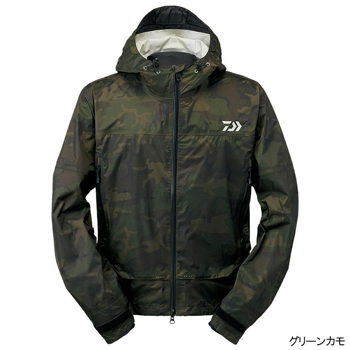 ダイワ レインマックス ショートレインジャケット DR-39009J L グリーンカモ【送料無料】
