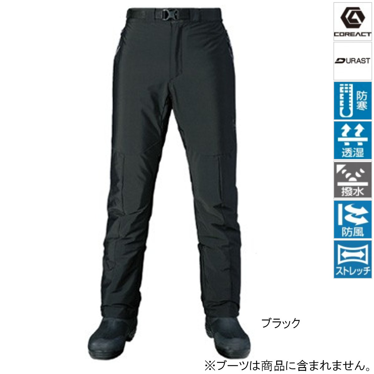 シマノ XEFO ストレッチサーマルパンツ PA-245R L ブラック【送料無料】