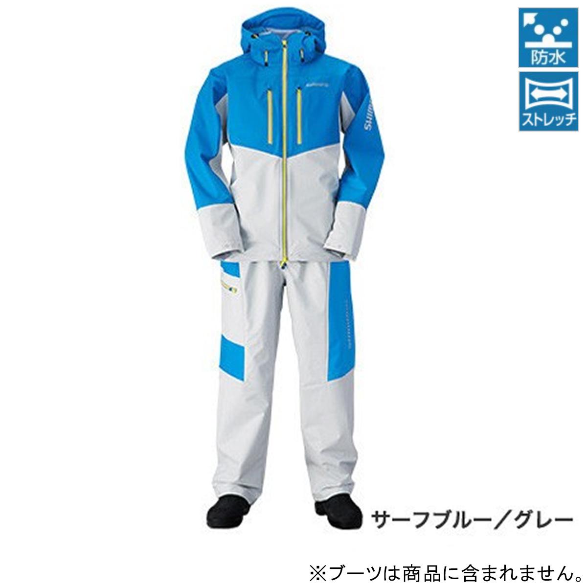 シマノ マリンライトスーツ RA-034N L サーフブルー/グレー