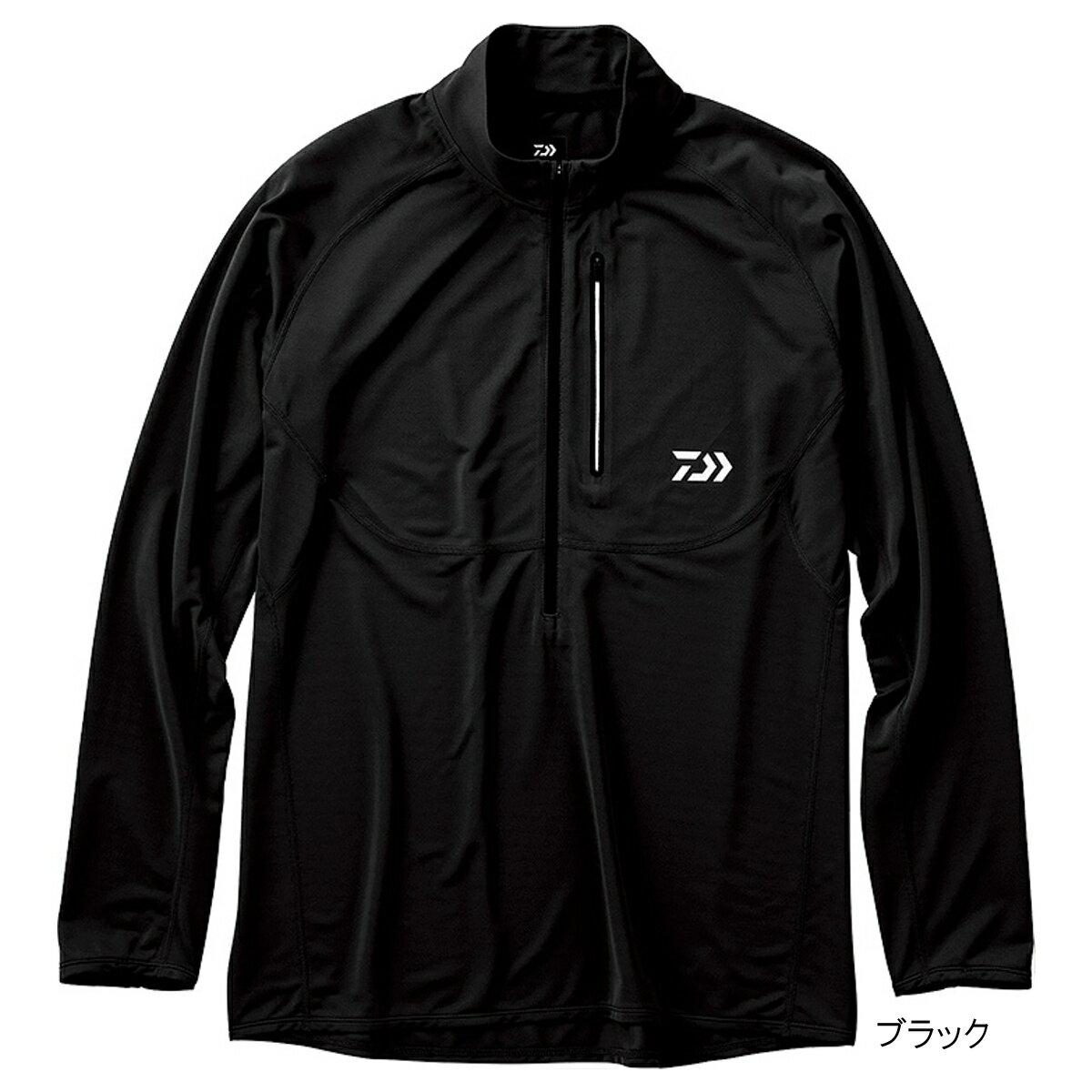 【12月は毎日お得!エントリーP10倍&5%還元!】アクティブジップアップシャツ DE-35009 L ブラック ダイワ