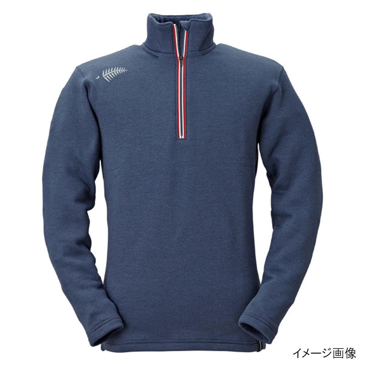 ジップアップシャツ シープバック超厚手 Y1631 M 80(ネイビー)
