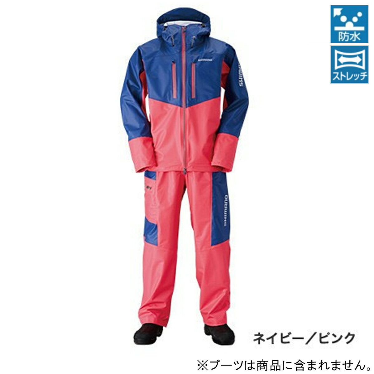 シマノ マリンライトスーツ RA-034N M ネイビー/ピンク