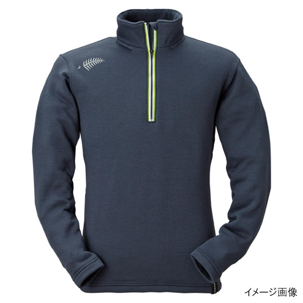 ジップアップシャツ シープバック超厚手 Y1631 L 97(ブルーブラック)