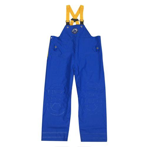 【10月30日カードユーザーエントリーP19倍!】マリンメイト サロペット(ワンタッチ胸付ズボン) F-9035S 3L ブルー