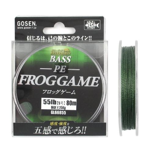 ゴーセン ついに入荷 リローデッドバス PE フロッグゲーム ゆうパケット オンライン限定商品 80m 55lb ダークグリーン