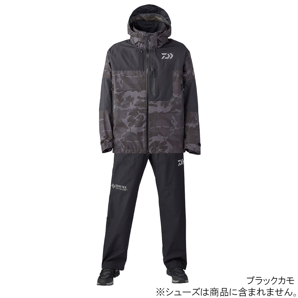 ゴアテックス インフィニアム プロダクト レインスーツ DR-19020 2XL ブラックカモ ダイワ【同梱不可】