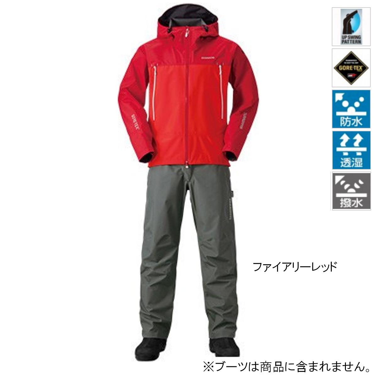 シマノ GORE-TEX ベーシックスーツ RA-017R M ファイアリーレッド【送料無料】