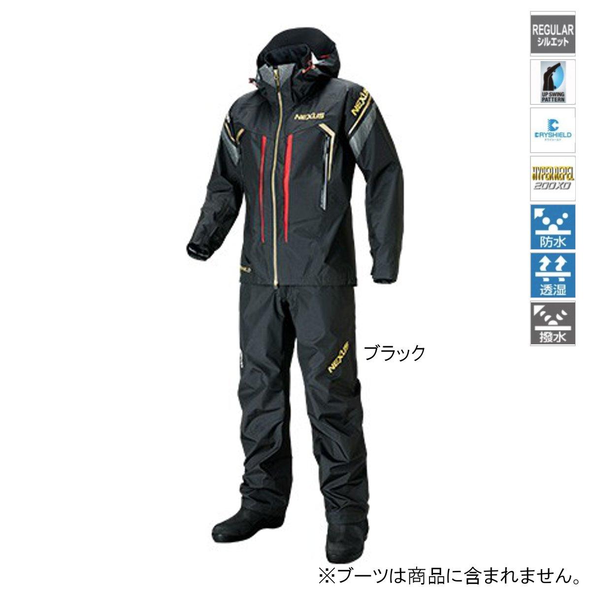 シマノ NEXUS・DS タフレインスーツ RA-124S L ブラック【送料無料】