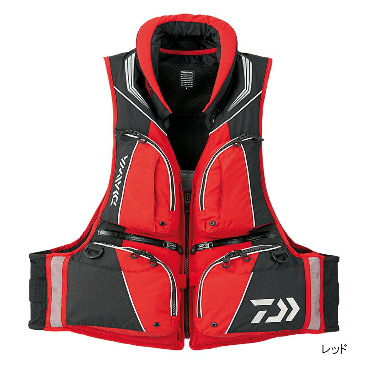 ダイワ トーナメント バリアテック 枕つきサイバーフロート DF-3508 L レッド【送料無料】