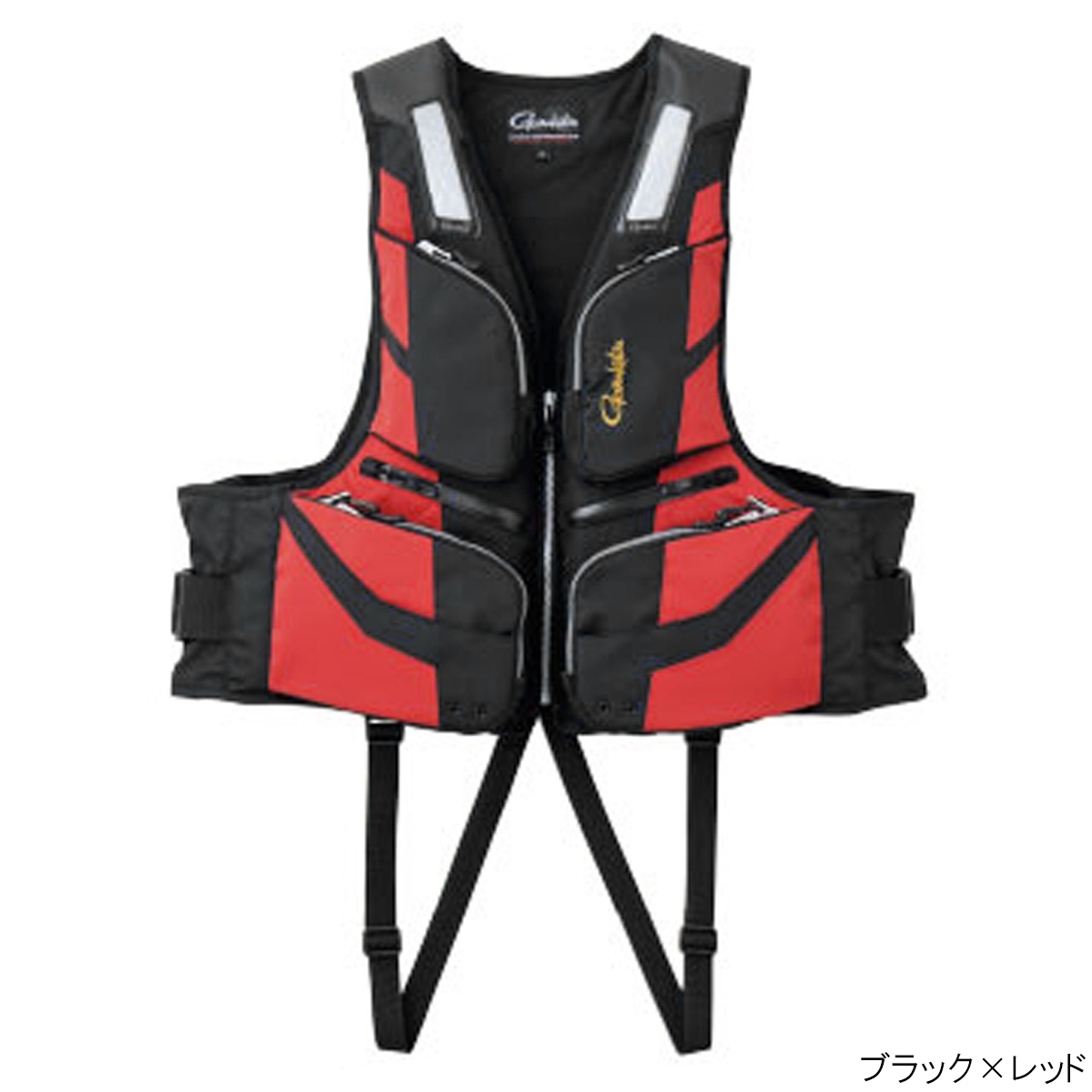 フローティングベスト GM-2187 L ブラック×レッド【同梱不可】