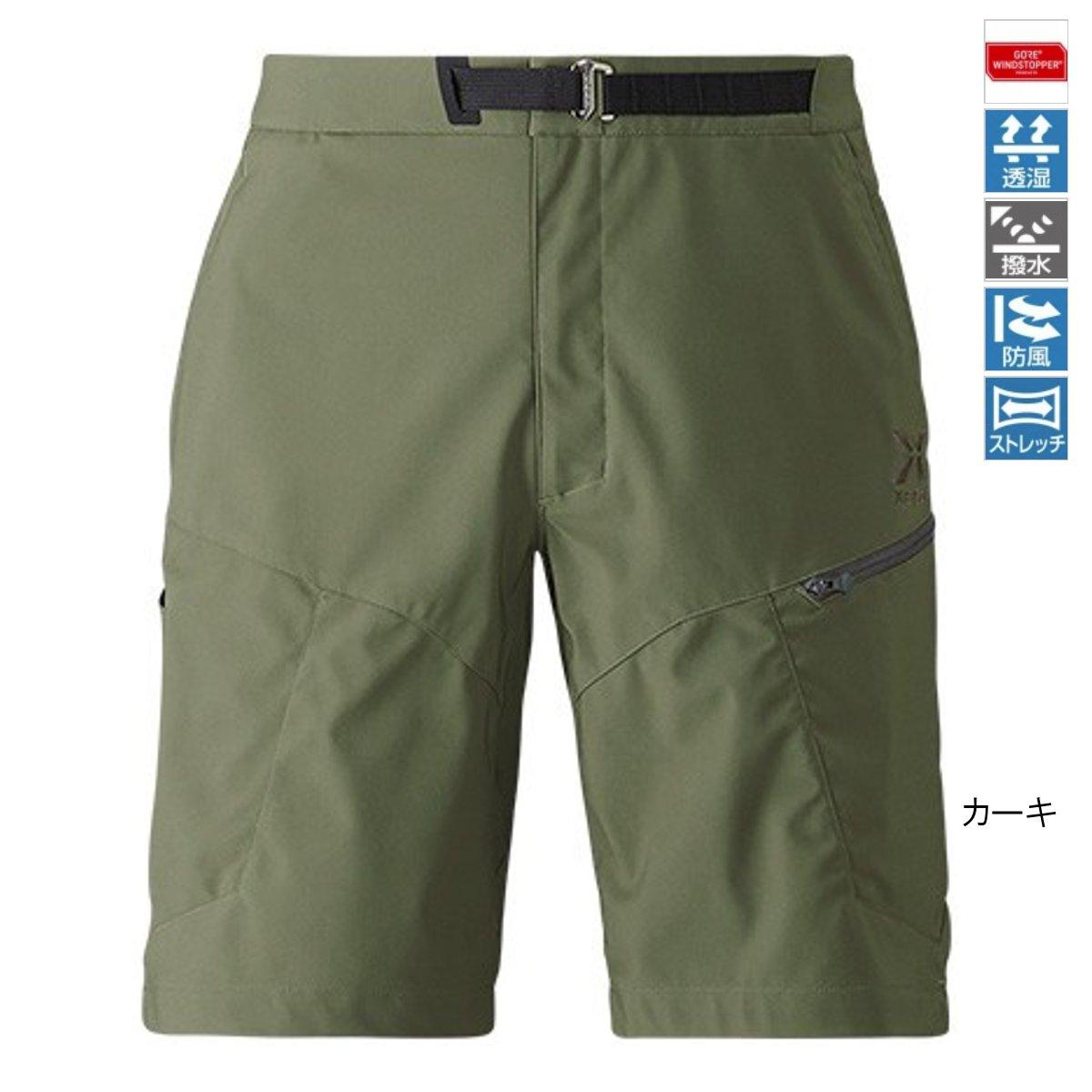シマノ XEFO GORE WINDSTOPPER ショーツ PA-242R 2XL カーキ【送料無料】