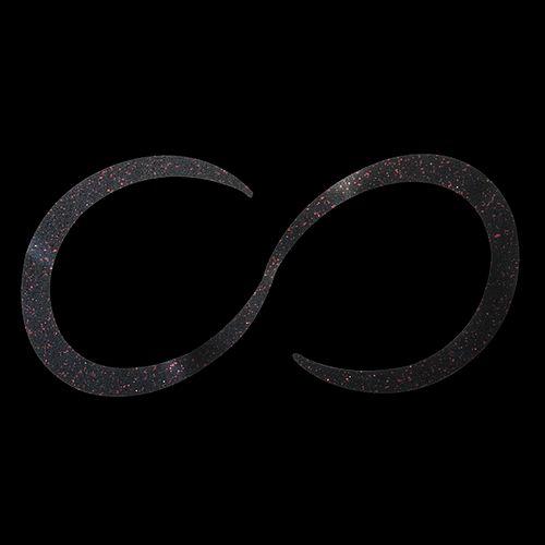ジャッカル ビンビン玉 チューニングネクタイ ショートカーリー 真っ黒レッドフレーク