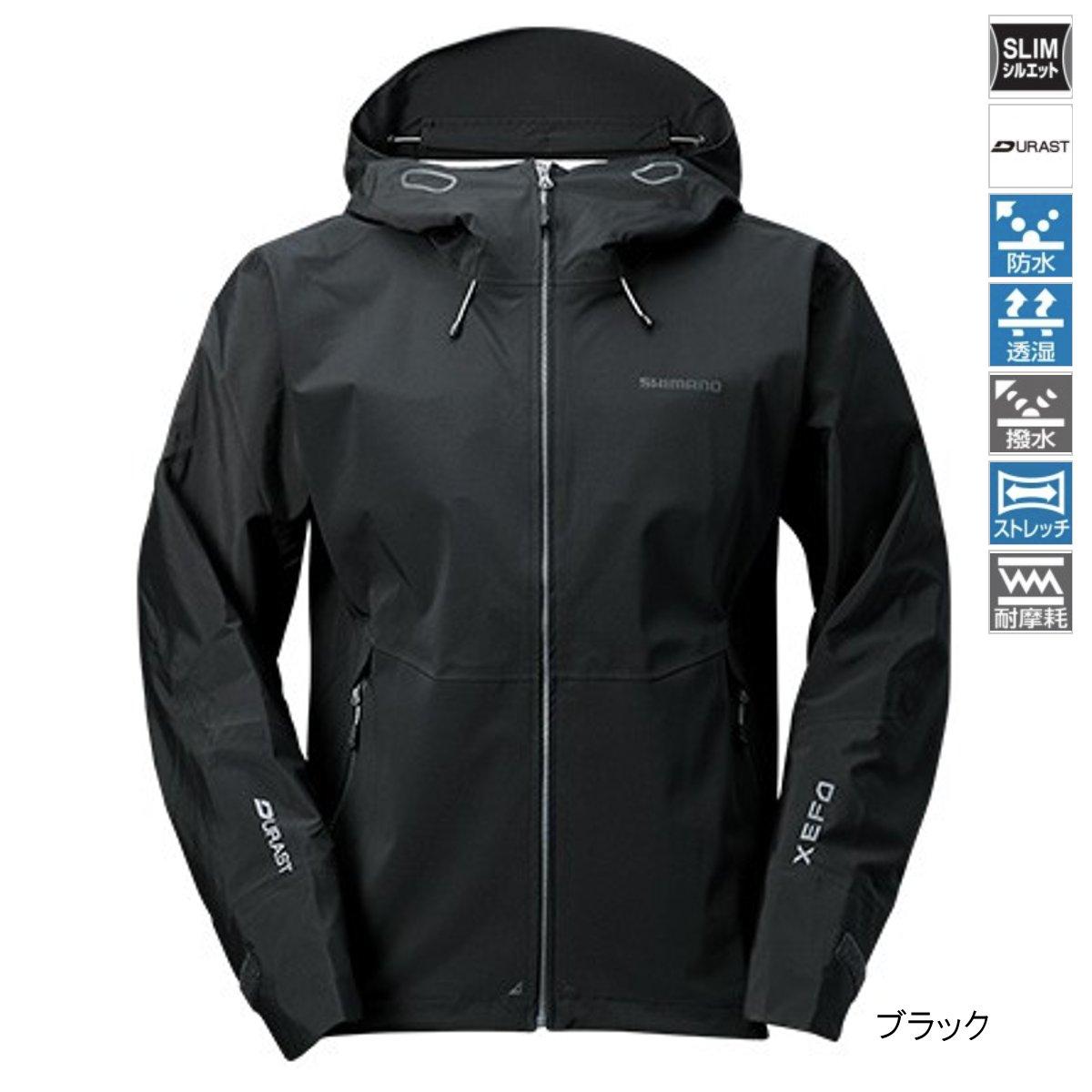 シマノ XEFO・DURAST レインジャケット RA-22JS XL ブラック【送料無料】