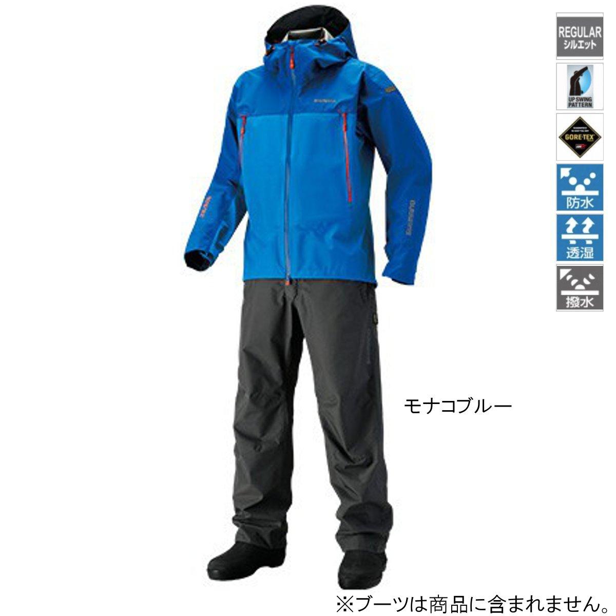 シマノ GORE-TEX ベーシックスーツ RA-017R L モナコブルー【送料無料】