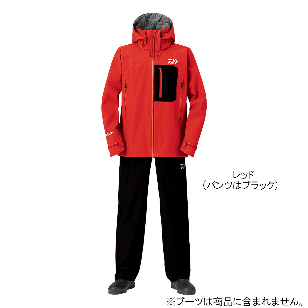 ダイワ ゴアテックスプロダクト パックライト レインスーツ DR-1908 XL レッド【送料無料】