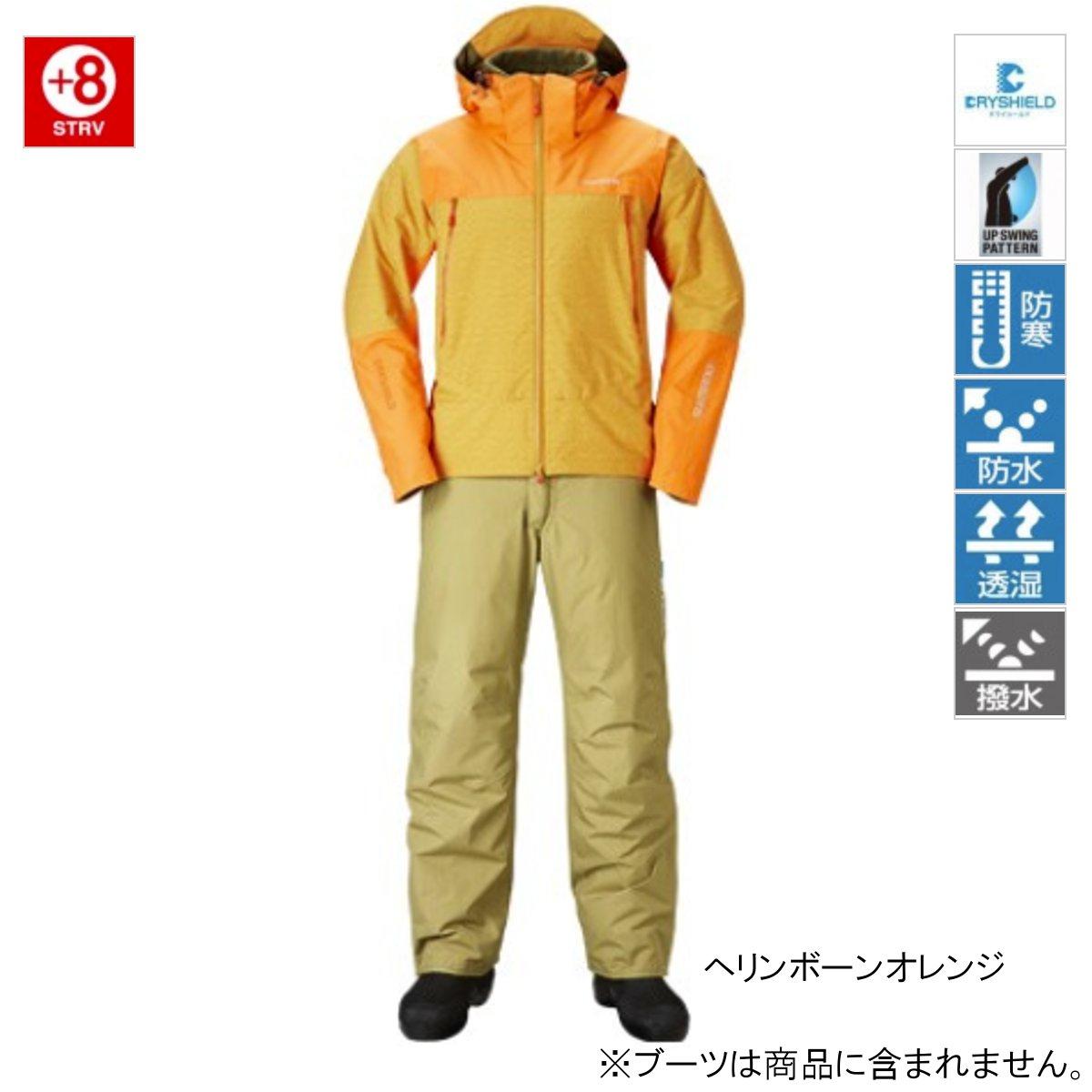 シマノ DSアドバンスウォームスーツ RB-025R L ヘリンボーンオレンジ【送料無料】